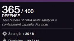 siva capsule warlock artifact