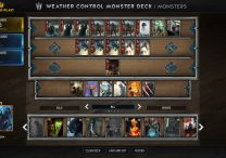 Cheap Monsters Weather Control Deck in Gwent