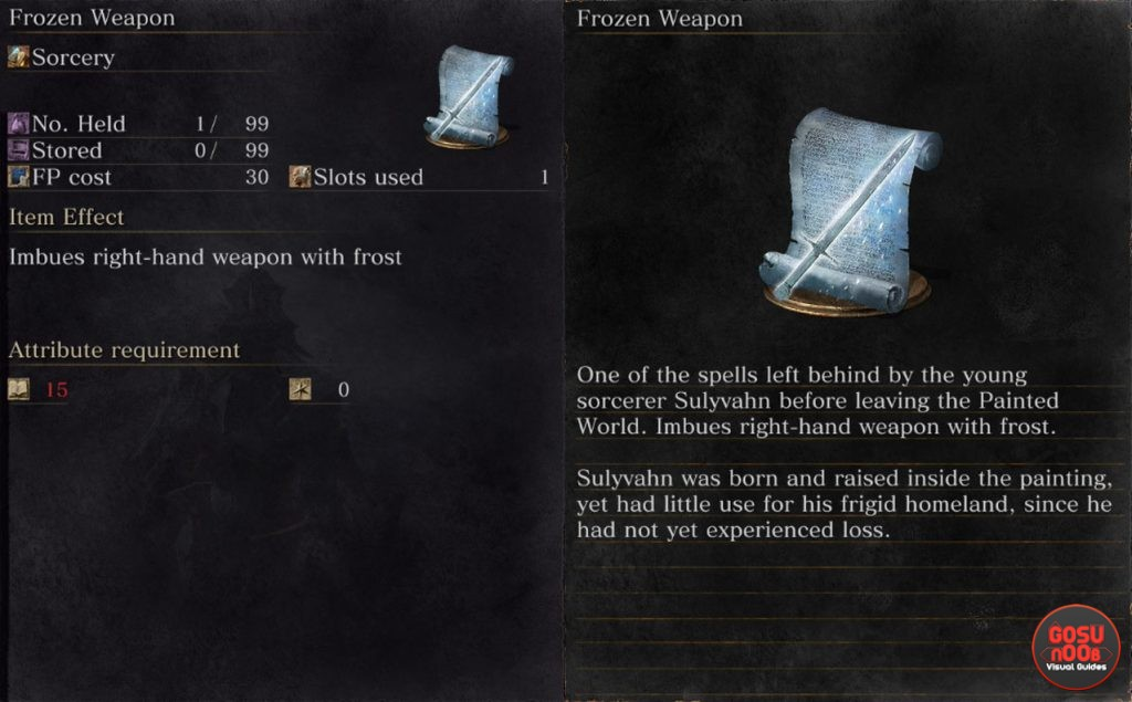 dark souls 3 frozen weapon sorcery