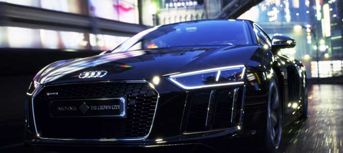 Final Fantasy XV custom Audi R8 Auction