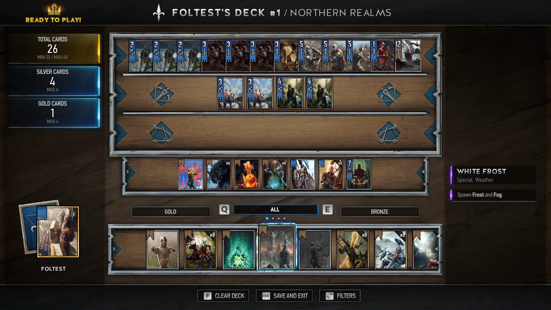 Northern Realms Cheap Buff OTK Deck Gwent Guide