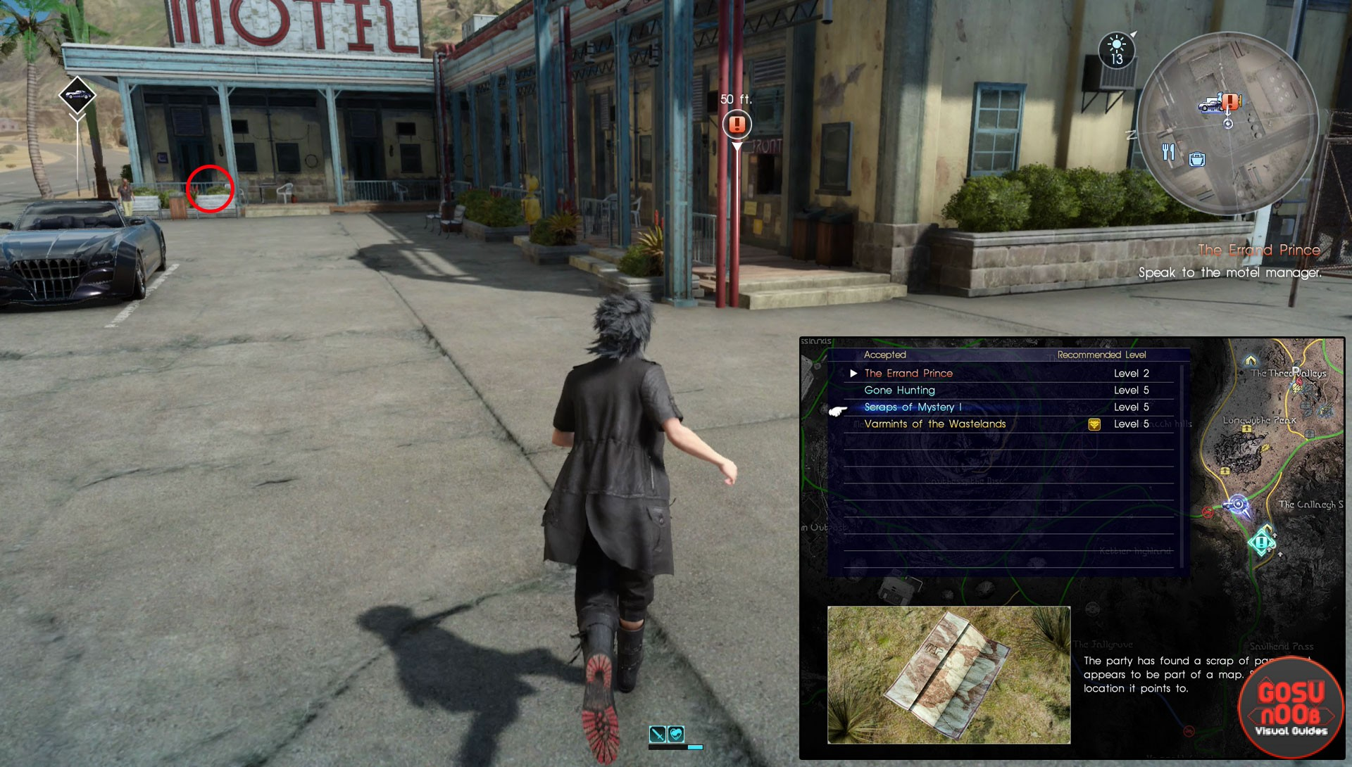 scraps of mystery I start location map ffxv final fantasy 15