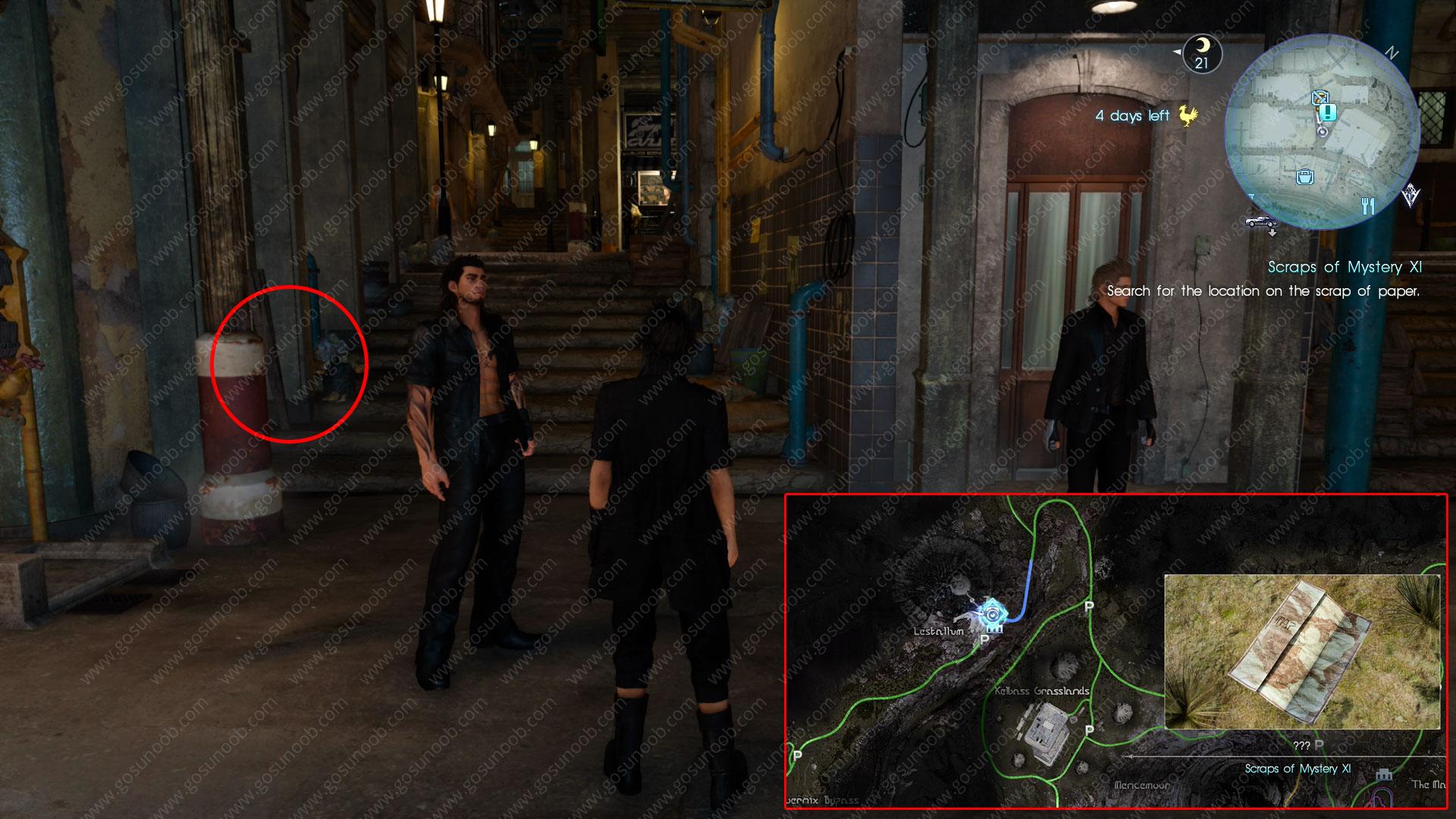 scraps of mystery XI scrap location ffxv