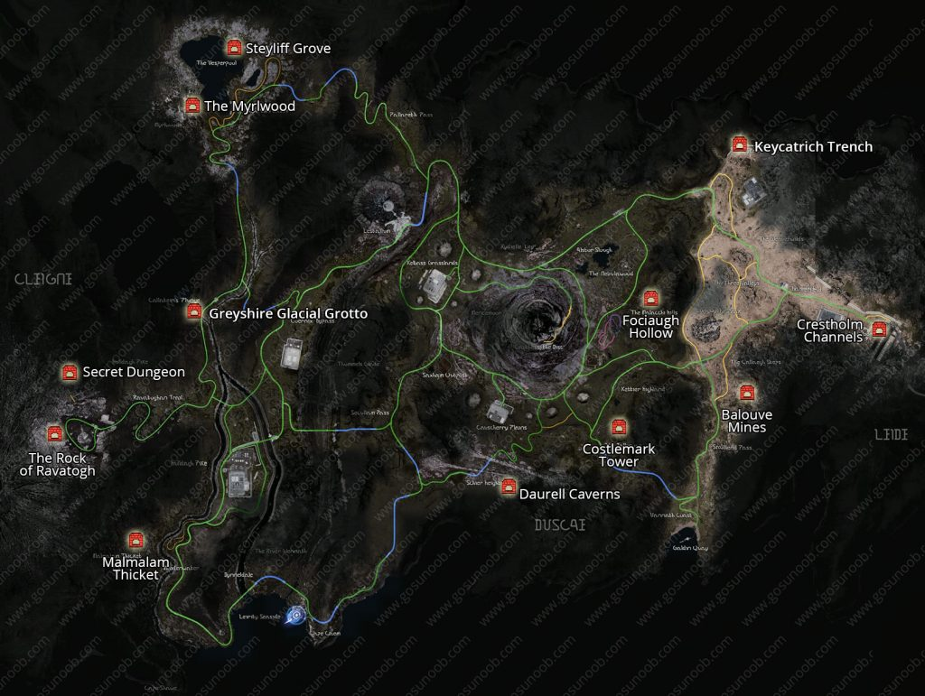 ffxv dungeon locations map final fantasy 15