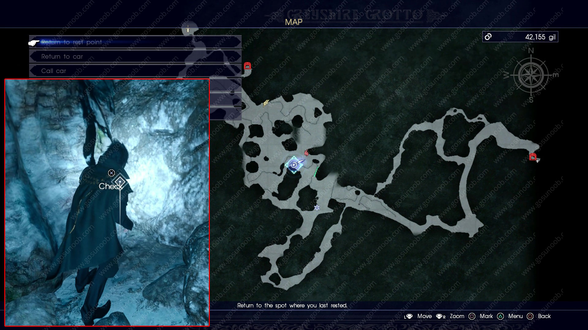 ffxv scraps of mystery xiv location map