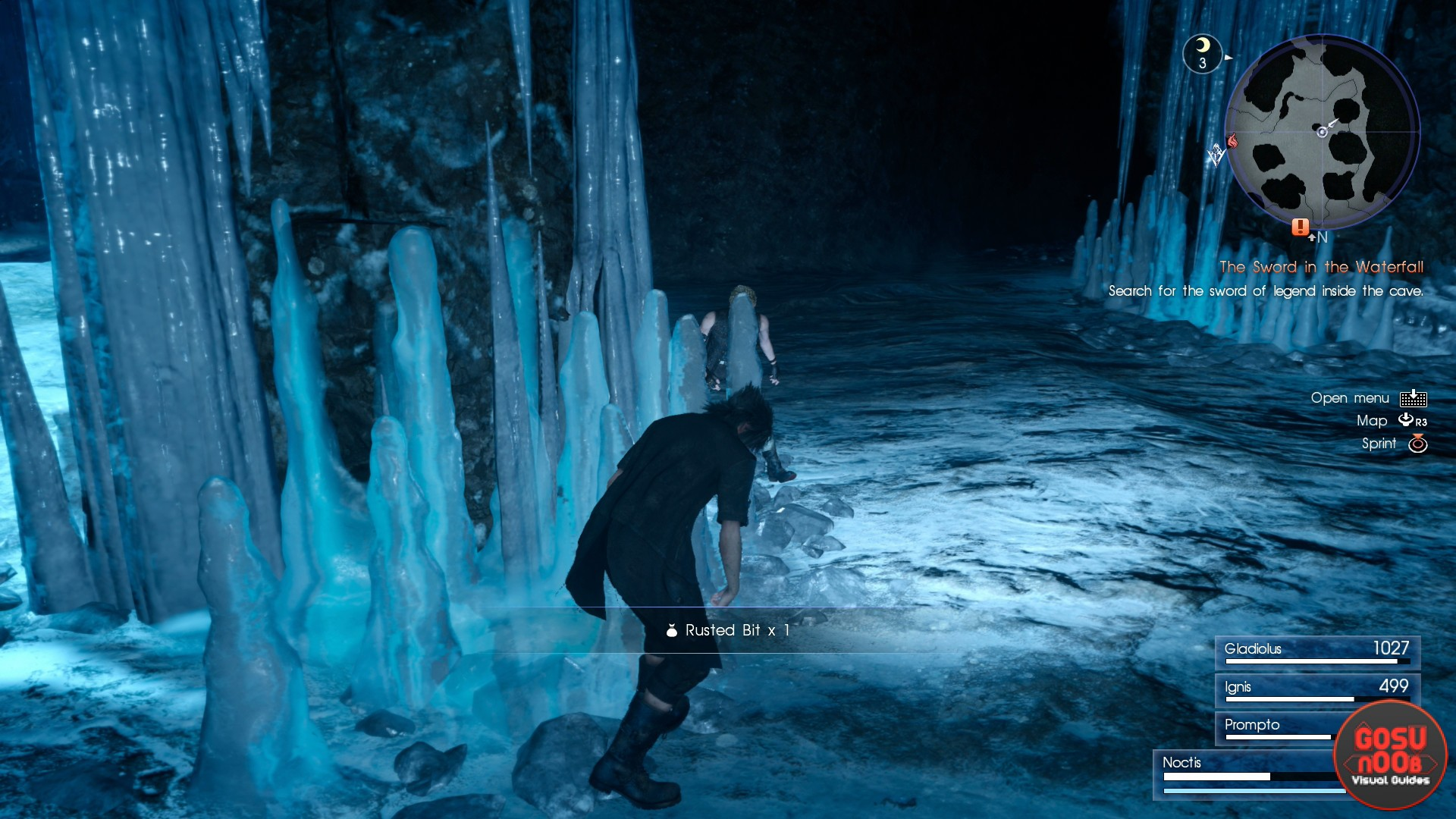 ffxv waterfall cave rusted bit