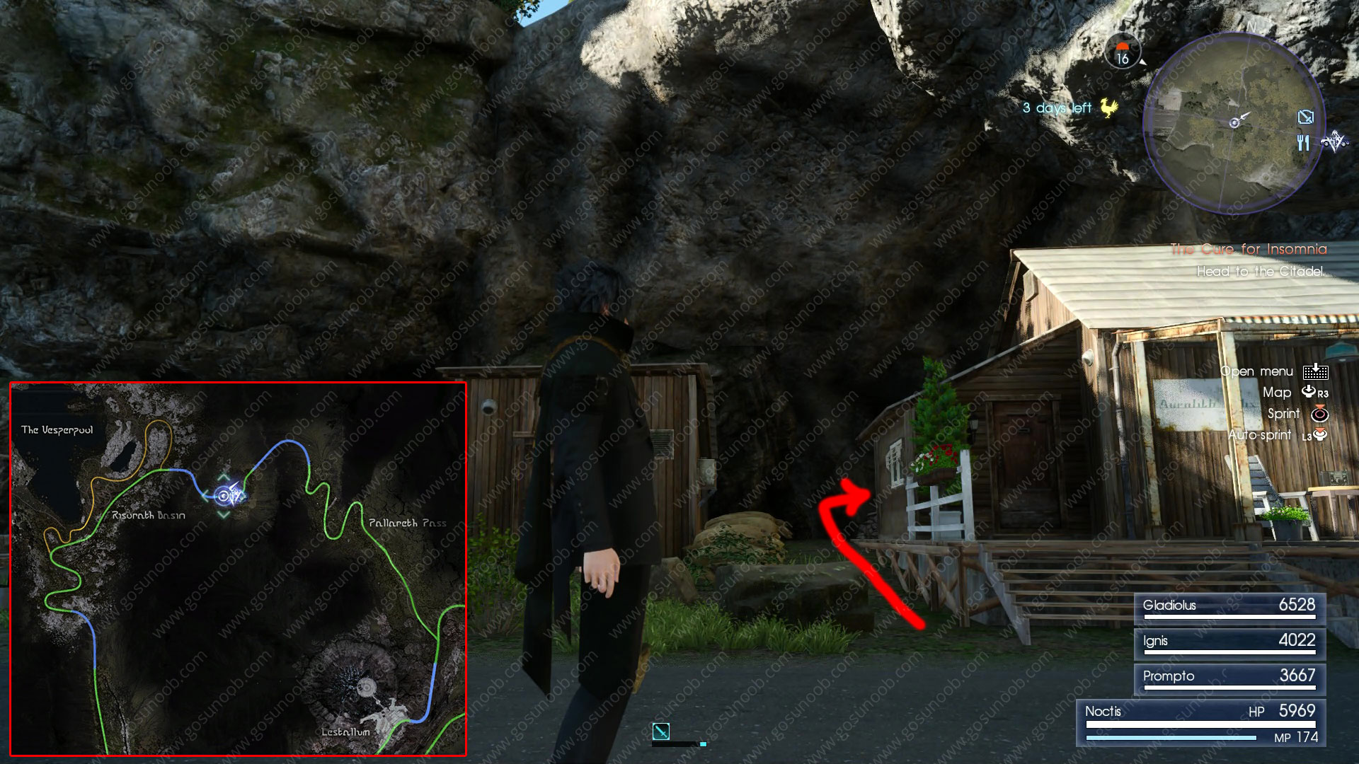 scraps of mystery XII start location ff 15