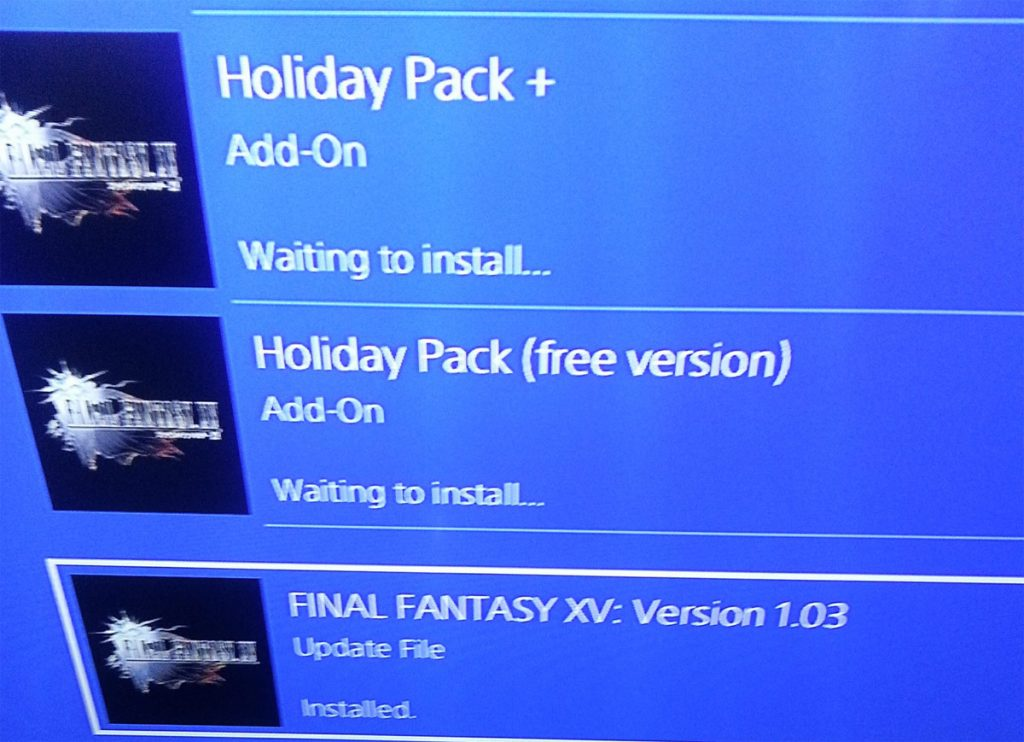 Final Fantasy XV Waiting to Install Error & Solution