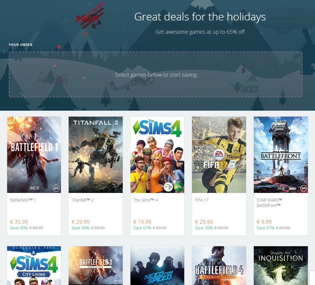 Origin Holiday Winter Sale 2016 Is Live