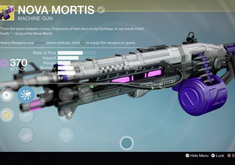destiny nova mortis exotic machine gun