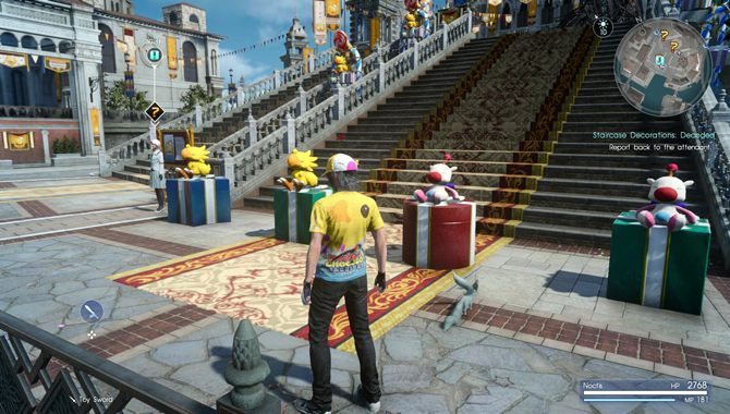 Final Fantasy XV Decoration Quests in Moogle Chocobo Carnival Guide