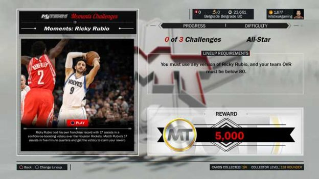 New Moments Challenge Ricky Rubio
