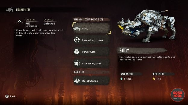 Horizon Zero Dawn How to Beat Trampler