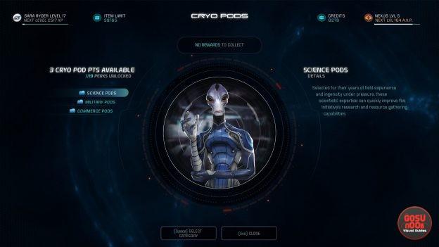 Mass Effect Andromeda How to Unlock & Earn AVP & Cryo Pods