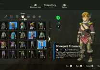 Zelda Breath of the Wild Armor Sets And Outifts - Zora, Flamebreaker, Snowquill, Rubber