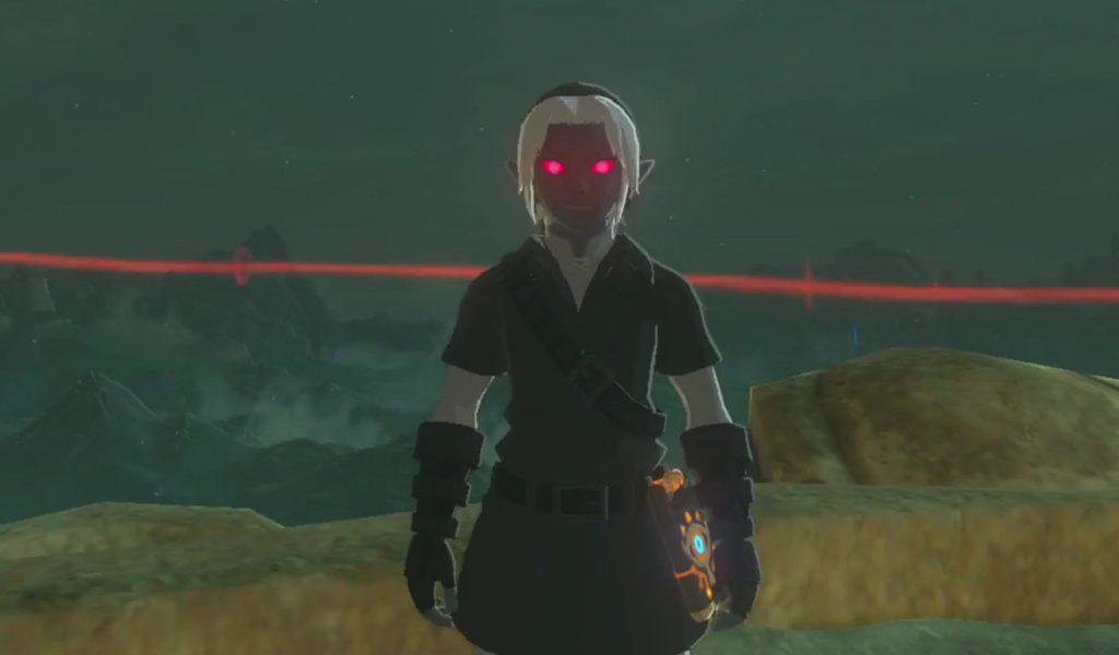 dark link costume zelda breath of the wild