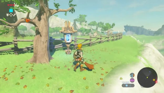 how to get blue flame to tech lab zelda botw