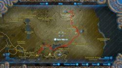 how to get to top mount lanyru The Spring of Wisdom zelda botw