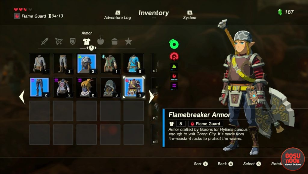 Zelda Breath Of The Wild Heat Amp Lava Resistance Armor