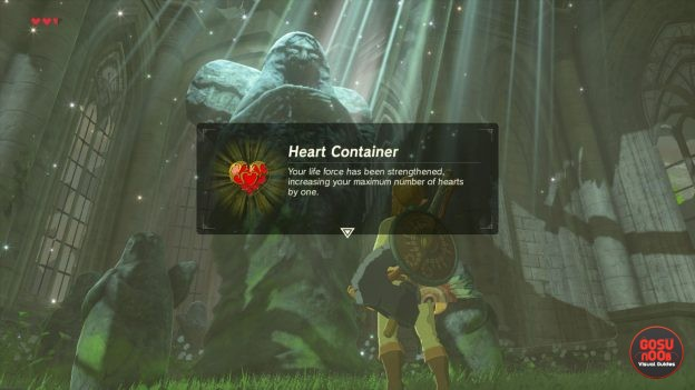 zelda breath of the wild how to swap heart container for stamina vessel
