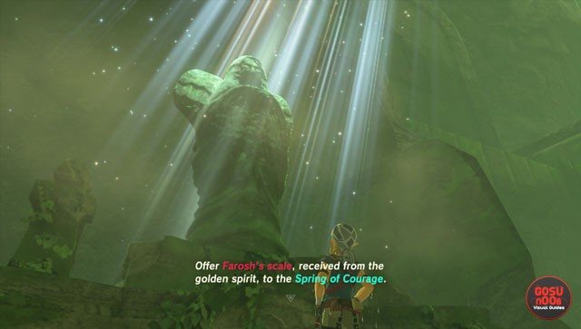 zelda breath of the wild spring of power courage wisdom locations