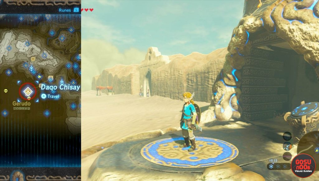 Zelda BotW Daqo Chisay Shrine Location