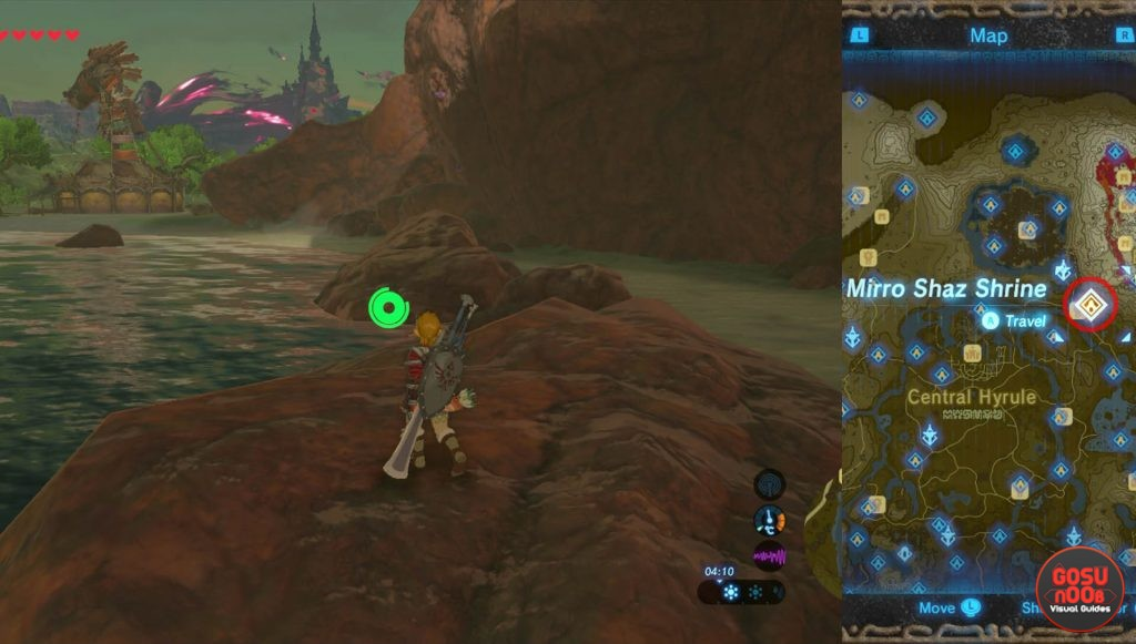 Zelda BotW Mirro Shaz Shrine Location