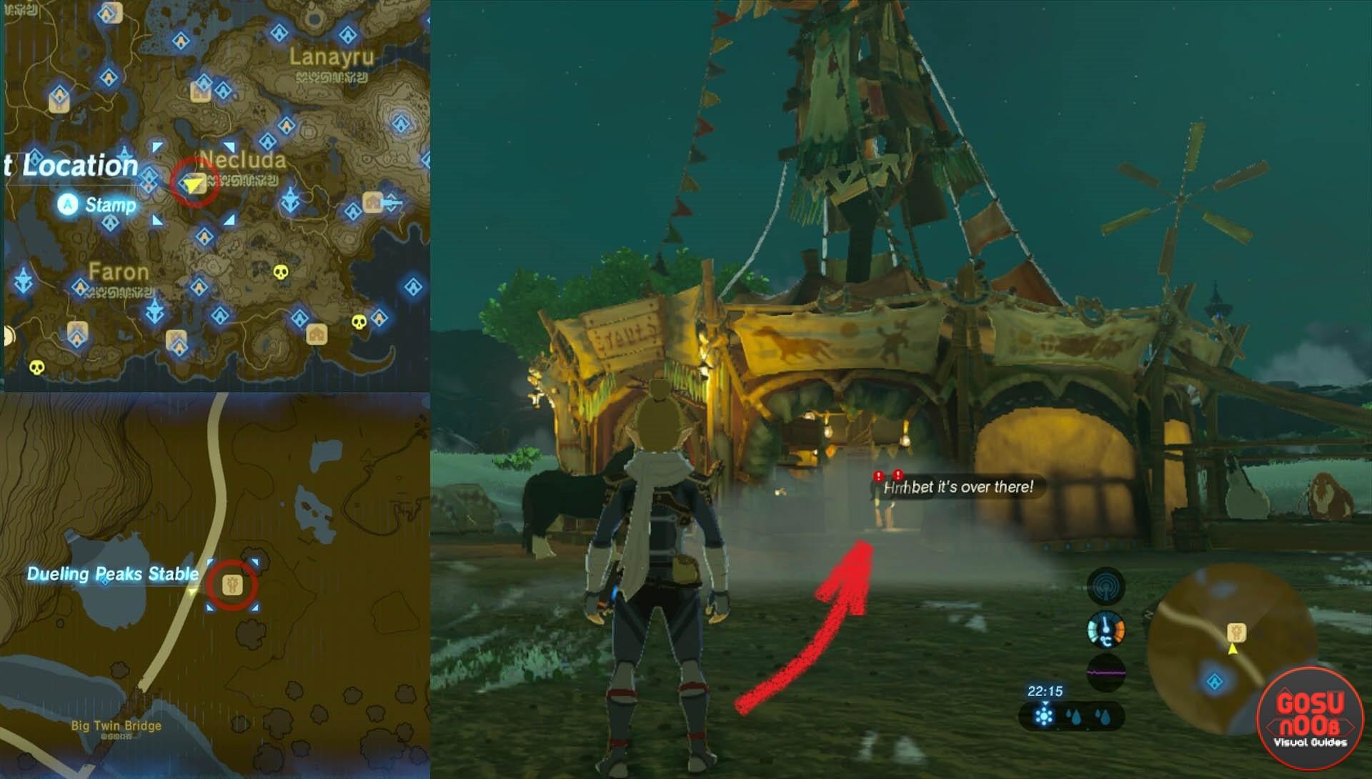 Misko The Great Bandit Zelda >> Zelda BoTW Misko The Great Bandit Side Quest - Treasure Location