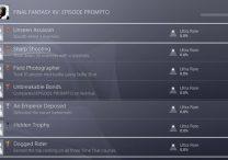 FFXV Episode Prompto Trophy Achievement List