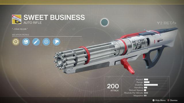 Destiny 2 Sweet Business Exotic Auto Rifle Location
