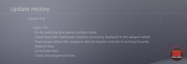 Horizon Zero Dawn Update 1.31 Released, Full Patch Notes