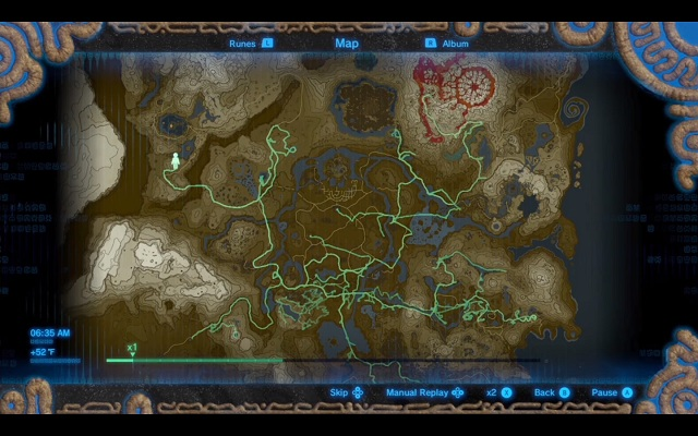 zelda botw how to turn on hero's path