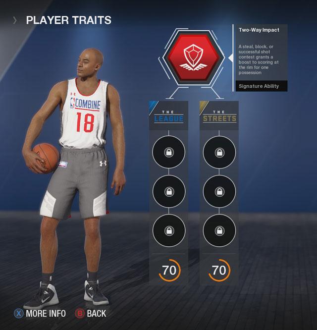 NBA Live 18 All Signature Ability Descriptions of Primary Trait