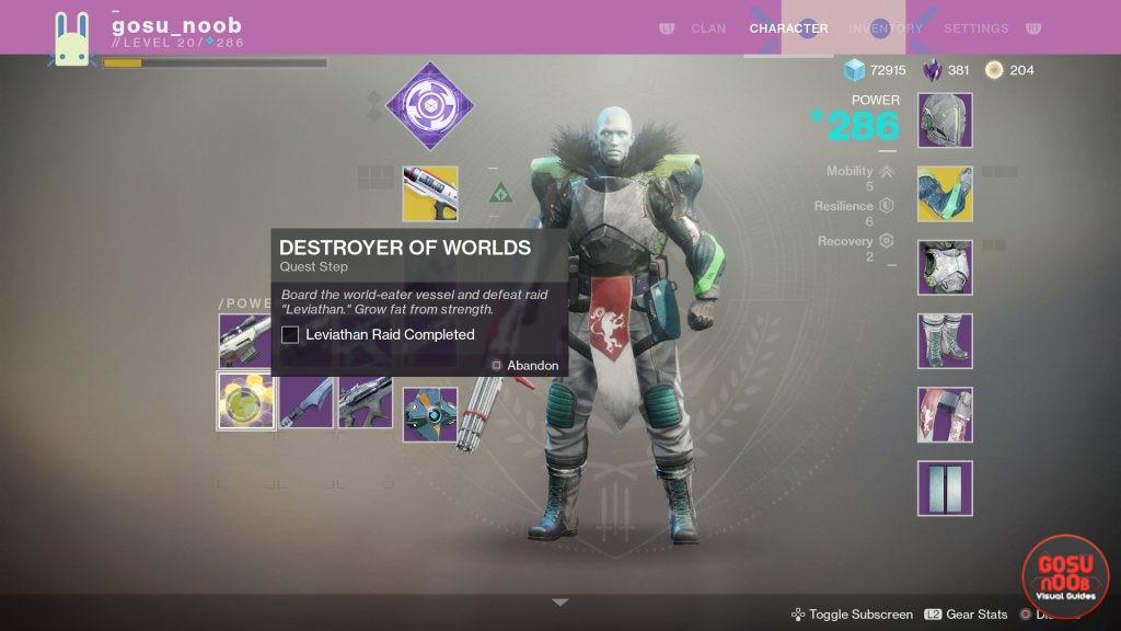 Destiny 2 Destroyer of Worlds Quest