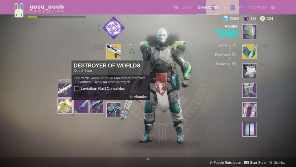 destiny 2 leviathan raid destroyer of worlds
