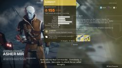 destiny 2 sunshot exotic handcannon