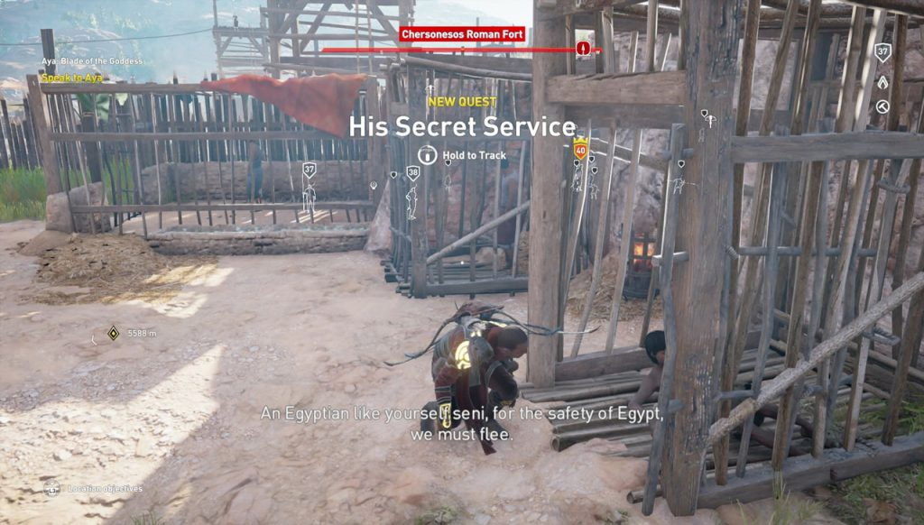 Assassin's Creed Origins His Secret Service Side Quest Walkthrough