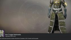 Iron Banner Destiny 2 Truage Vestments Legendary Heavy Warlock Armor