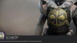 Titan Iron Truage Plate Chest Armor Destiny 2 Iron Banner