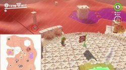 super mario odyssey sand kingdom warp painting location
