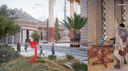 AC Origins Asklepieion Papyrus Puzzle Location