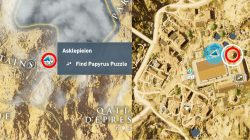 AC Origins Asklepieion Temple Papyrus Puzzle Map Location
