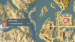 AC Origins Temple of Sobek Papyrus Location With Map