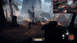 SW Battlefront 2 Mission 2 the Battle of Endor Collectible Locations no 1