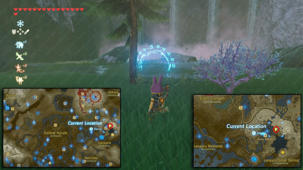 Chase rings of the waterfall riddle solution location zelda botw