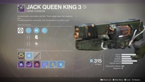 destiny 2 jack queen king 3 legendary weapon