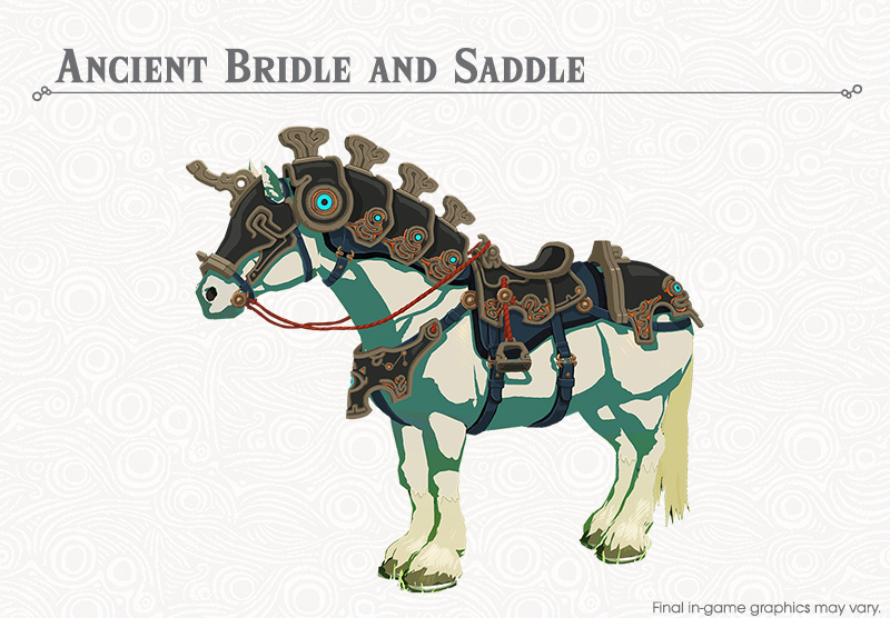 zelda botw ancient horse armor saddle bridle locations