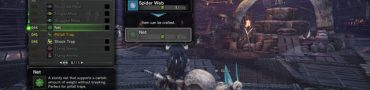 monster hunter world nets spider webs pitfall trap crafting