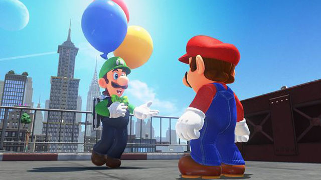 Super Mario Odyssey Free DLC Adds Luigi's Balloon World Minigame