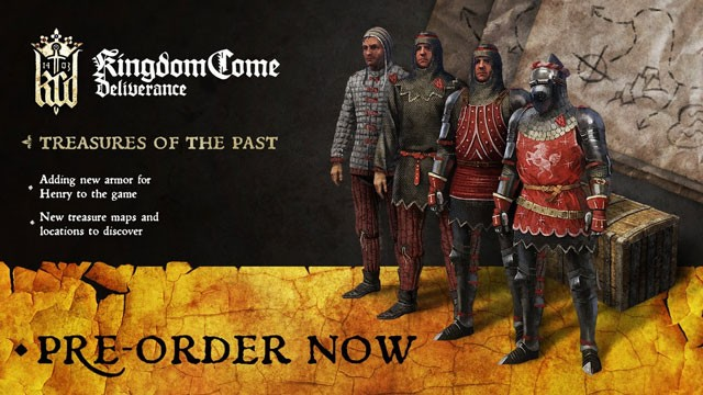 kingdom come deliverance treasures of the past maps preorder bonus